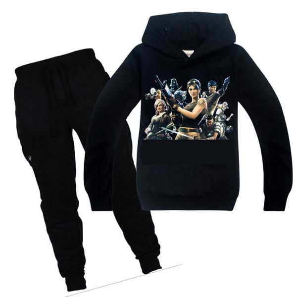 Oyun Iki haftada Karakter Çocuk Giysileri Set 3d Baskı Hoodies Tişört + Pantolon 2 adet Erkek Kız Set Tişörtü 6-14Y Çocuklar Pantolon Y1892605