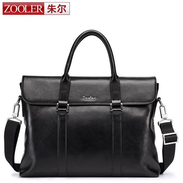 ZOOLER Man Shoulder Handbag Men's Fashion Genuine Leather Business Bag Briefcase for 14 Inch Laptop Computer Cover Messenger Bag
