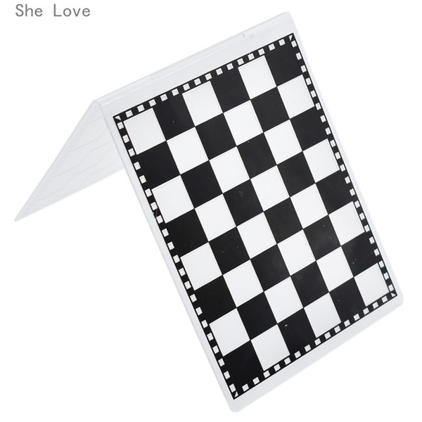 he Love Checkerboard Plastic Template Embossing Folder For Scrapbooking Photo Album Paper Card Craft Card Making Decoration She Love Chec...