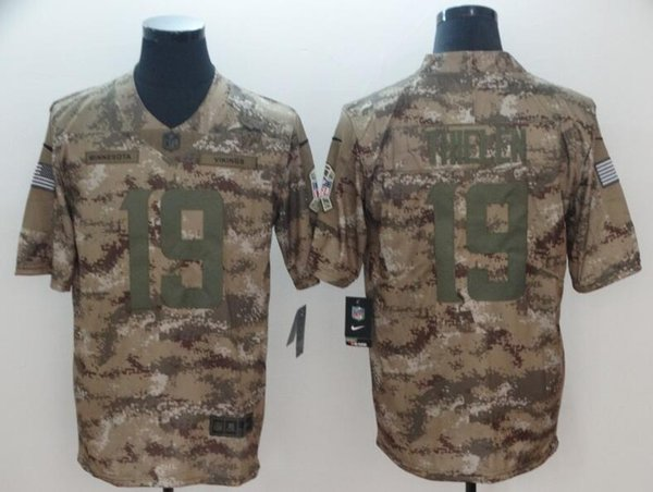 new styles 091bb c8ab2 2019 Adam Thielen Camo Jersey Minnesota Vikings Stefon Diggs Kirk Cousins  Harrison Smith Salute To Service American Football Limited Jerseys 4xl From  ...