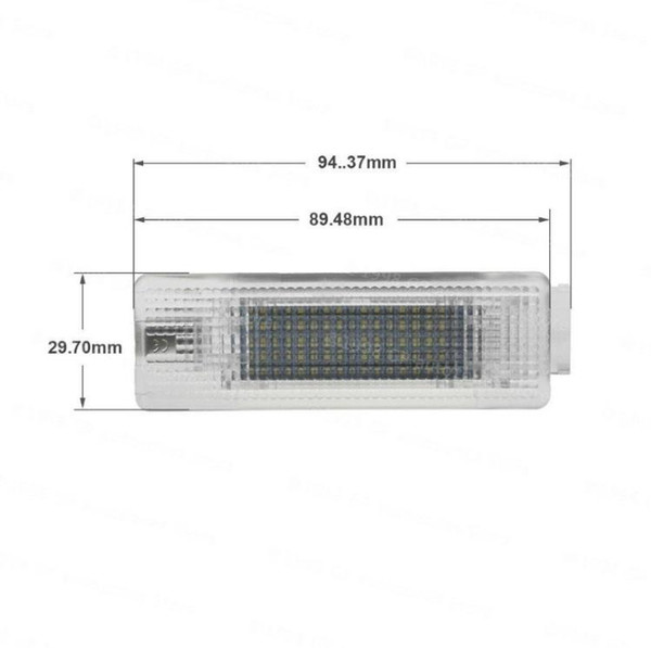 No Error 18SMD 12V 5W White LED Lamp Car Trunk Luggage Compartment Light Cargo Area Lamp For VW Golf Jetta 6000K