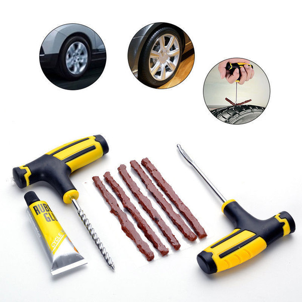 2018 Professional Car Tire Repair Kit Car Bike Tubeless Tire Tyre Puncture Plug Repair Kit Tool Car Accessories Hot Selling
