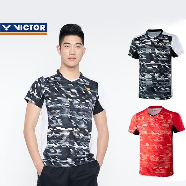 Compre 2018 Nueva Camisa De Victor Badminton Tenis Hombres Mujeres Prendas De Vestir Pantalones Cortos De Poliéster Victor Bádminton Jersey Tenis
