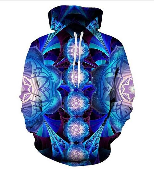 Psychedelic Flower Mandala Men&Women Hoodies Couples Casual Style 3d Print Hoodie Autumn Winter Sweatshirts Hoody Tracksuits Tops RTA048