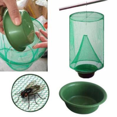 best selling Fly Kill Pest Control Trap Tools Reusable Hanging Fly Catcher Killer Flytrap Zapper Cage Net Trap Garden Supplies Killer-flies CCA9970 50pcs