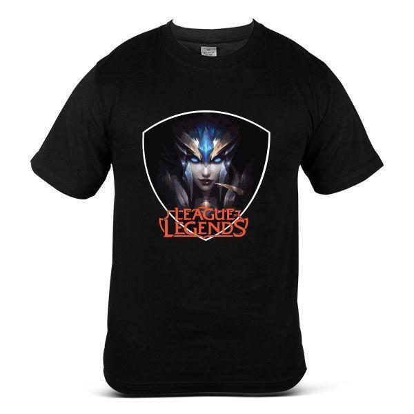 8110-BK League Of Legends Queen Of Battle Games War Black Men Tee T-Shirt