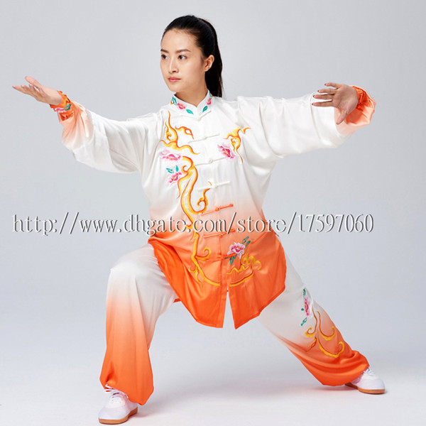 top popular Chinese Tai chi clothes Kungfu uniform Taijiquan competition suit Qigong outfit embroidery garment for women men girl boy adults kids 2020