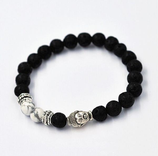 Natural Tophus Buddhist Buddha Meditation Beads Bracelets For Women Men Jewelry Prayer Bead Mala Bracelet free shipping