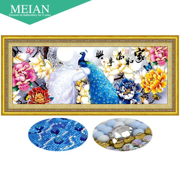 3D DIY Diamond Embroidery,Full,5D Diamond painting Peacock,Diamonds mosaic,cross stitch,Animal,needlework,Christmas,decor,gift Y18102009