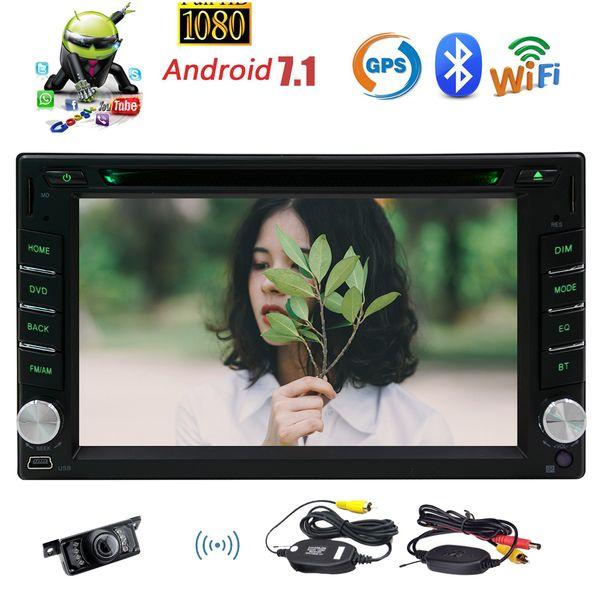 "Wireless Camera+Android Car Stereo 2GB RAM+32GB ROM 6.2"" 1024*600 Screen Double Din car DVD CD Player GPS Sat Navi Bluetooth Autoradio WIFI"