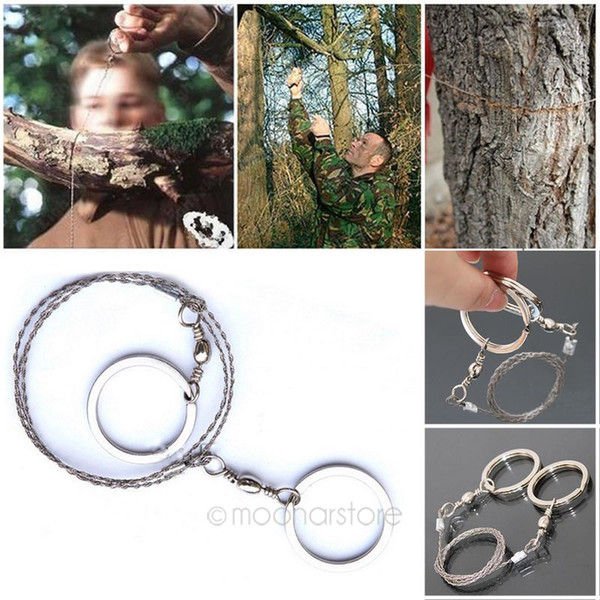 NEW Pocket Steel Saw Wire Camping Hunting Travel Practical Emergency Survive Tool Stainless Wire Saw