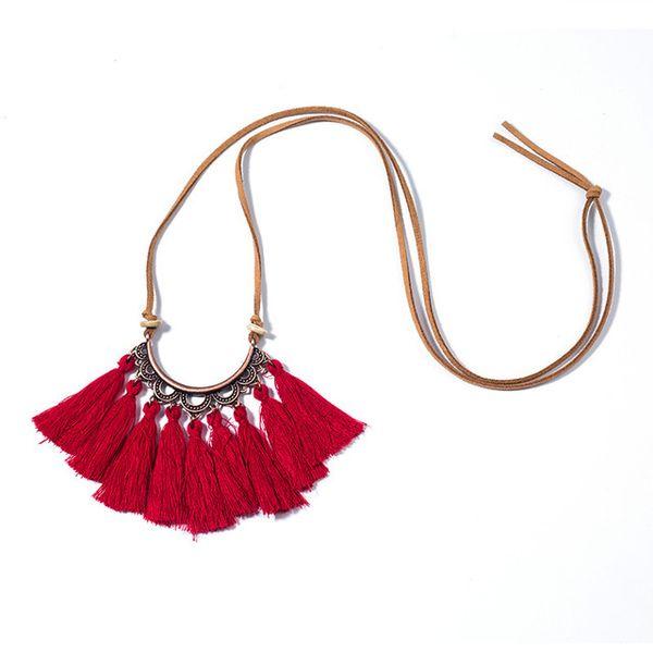 Femmes Tassel Boho Bohème Pendentif Chandail Chaîne Longue Collier Bijoux S