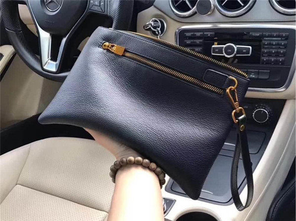 Classic Leather Hand Purses Clutch Phone Wallets with Card Slots for Women Luxury Unisex Cowhide Leather Clutch Bag for Ladies and Men