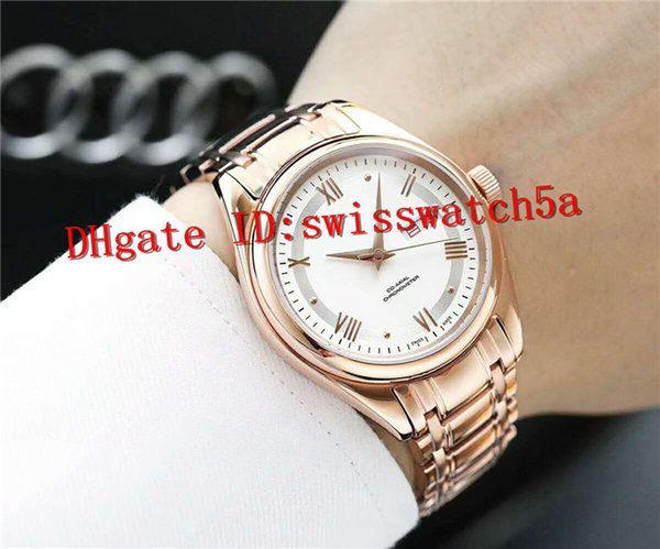 Luxury mens watches Swiss 7750 Automatic Date Mechanical Movement 28800vph Sapphire Crystal 316L Stainless Steel 18K Rose Gold Case