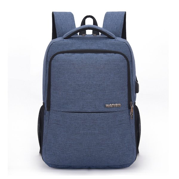 USB Charging Backpacks High Quality Oxford Polyester Inner Leisure Travel Laptop Backpack School Bags Men's Business Back Pack
