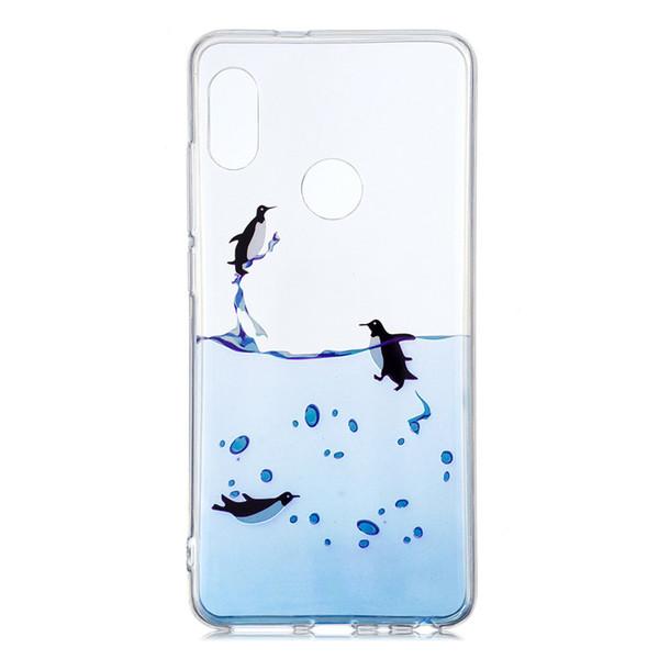 Soft TPU Cas Capinhas Pour Xiaomi Redmi Note 5 Pro Couverture Transparent Peinture Papillon Talons Hauts Penguin Crâne Téléphone Cas