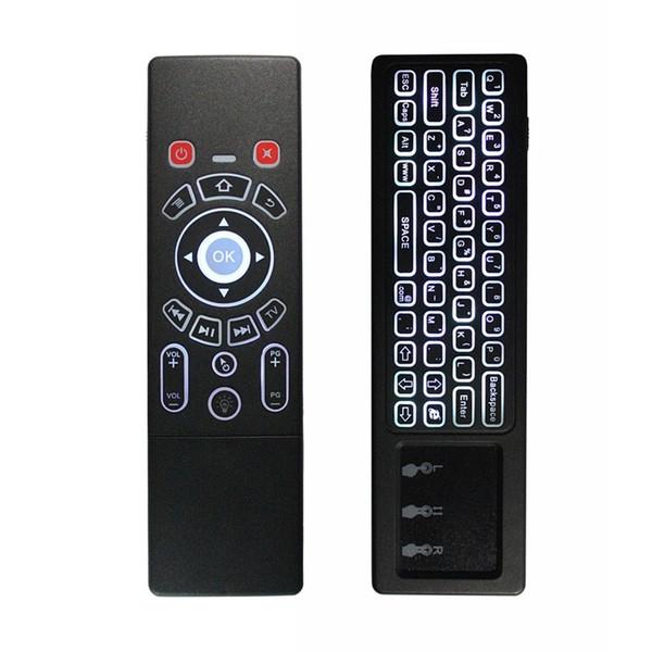 2.4G Air Mouse Backlit drahtlose Tastatur mit Touchpad Fernbedienung IR lernen für Android TV Box / Xbox / PC / Smart-TV