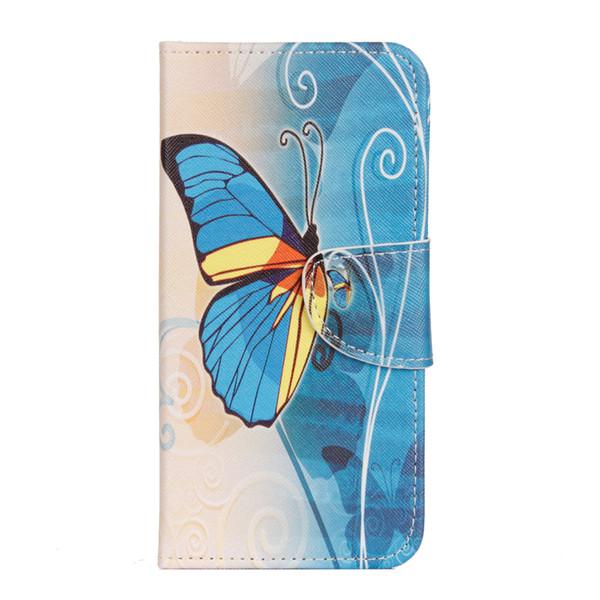 Совы Печати Цветочные Узоры Кожаный Бумажник PU Кожаный Чехол Для Телефона Чехол Для Huawei Y5 2018 / Y5 Prime 2018 / Honor 7 S