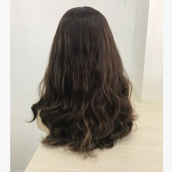 Professional factory 22 inch small layer original European hair machine made Jewish wig Kosher sheitel bandfall wig