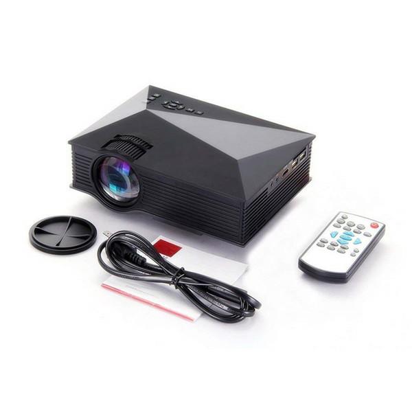 بروجيكتور متنقل عالي الدقة HD WiFi UC46 1200 Lumens محمول LED بروجيكتور دعم USB VGA HDMI بطاقة SD AV للحزب الترفيه المنزلي مع جهاز التحكم عن بعد