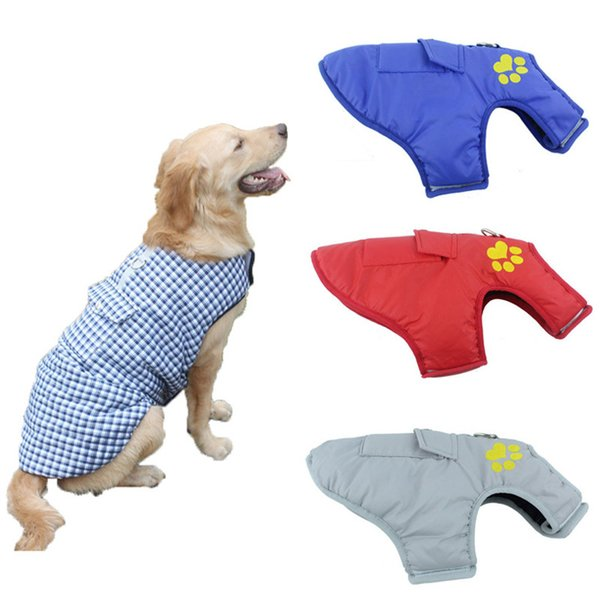 7Size Waterproof Dog Clothes For Small Dogs French Bulldog Coat Large Dog Jacket Poodle Pug Clothing Reversible Wear Pet Custome