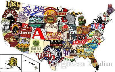 Free Shipping American Craft Beer Pub Crawl High Quality Art Posters Print Photo paper 16 24 36 47 inches