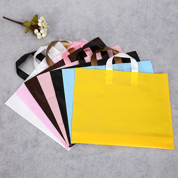 Direct sale of bags for boys and girls in children's clothing shops, hand-held PE plastic bags, gift shopping bags