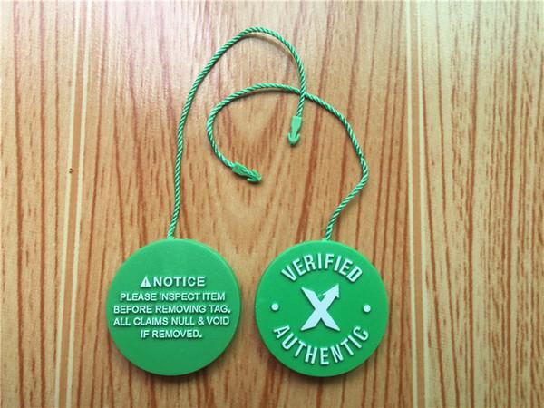 QR-Code Stock X Tag StockX Aufkleber x Karte Verified X Authentische grüne Tag für OFF Schuhe Männer Weiß Großhandel Einzelhandel