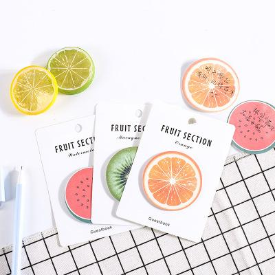 top popular Creative stick note fruit stick note student fruit stick note planner memo pad paper sticker kawaii office stationery 2020