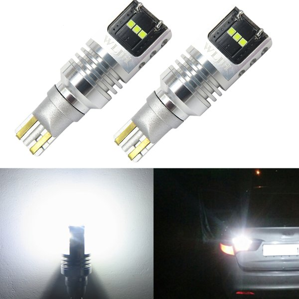 WLJH Auto LED Lamp 921 W16W Led T15 LED Bulbs Car Reverse lamp LEDs Tail Turn Signal Lamp for Hyundai Accent Odyssey 2000-2015