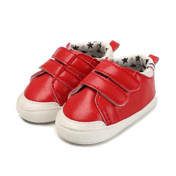 Mode Kleinkinder Mädchen PU-Leder Weiche Sohle Baby-Krippe-Schuhe Bowknot