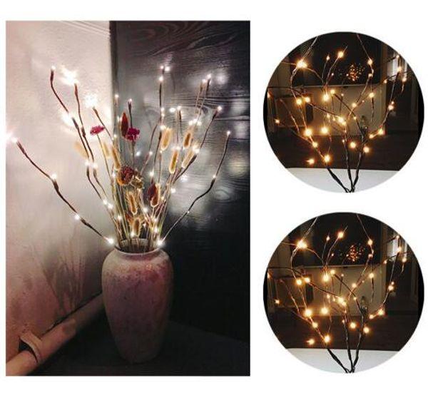 Envío gratis LED Willow Branch Lamp luces florales 20 bombillas casa fiesta de Navidad decoración del jardín del partido decoración del hogar al aire libre luz del jardín