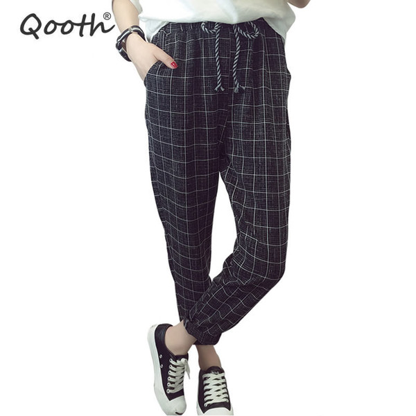 2018 Summer Fall England Style Women's Trouser Fashion Design Harem Pants With Pocket Casual Pants Size S-3XL 4 Colors DN291Y1882202