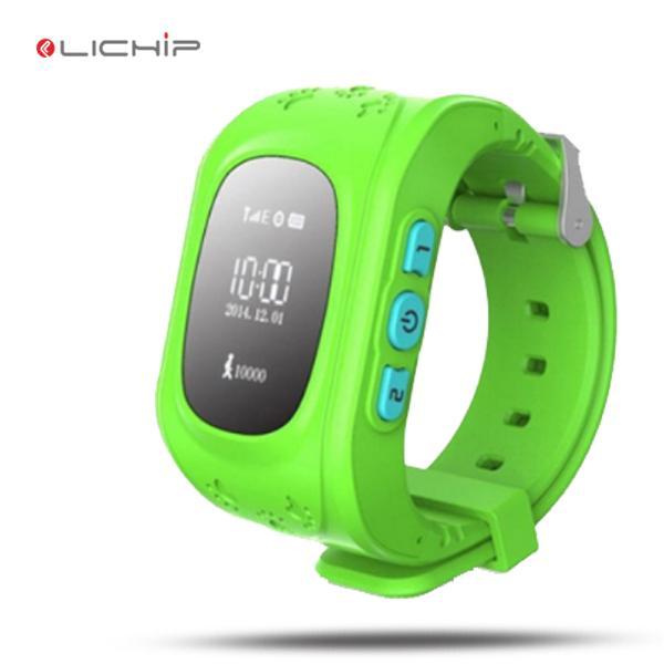 LICHIP smart watch per bambini Q50 sos gps guarda il telefono LCD con sensore di luce per il telefono cellulare
