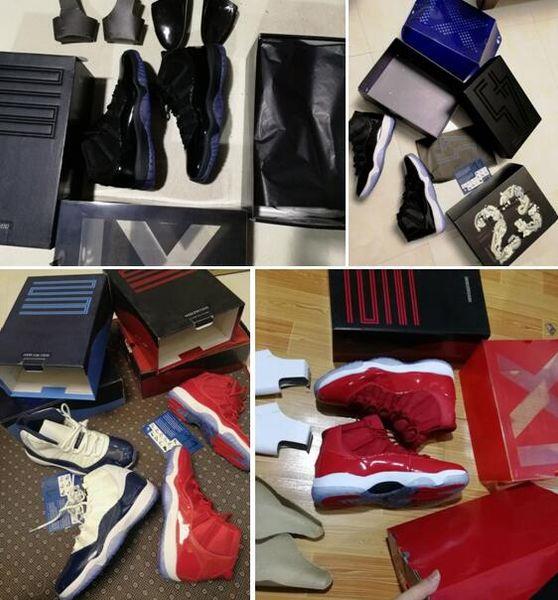 Cap and Gown 11 Win Like 82 Blu all'ingrosso Space Jam 11 UNC 11s Midnight Blu scuro Blu Gym Rosso Con scatola Scarpe da basket Spedizione gratuita