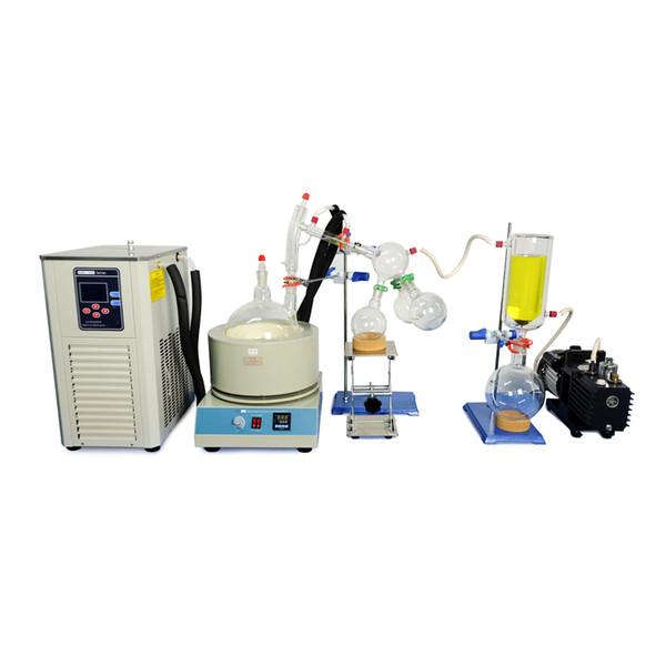 best selling Lab Equipment 5L Short Path Distillation Standard Set w Vacuum Pump & Chiller