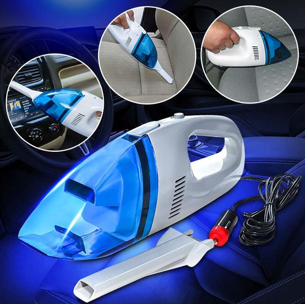 Envío Gratis 60 W Mini 12 V Coche Auto Húmedo Seco Aspirador de Mano Portátil Ligero de Alta Potencia 2.4 M Aspirador Recargable