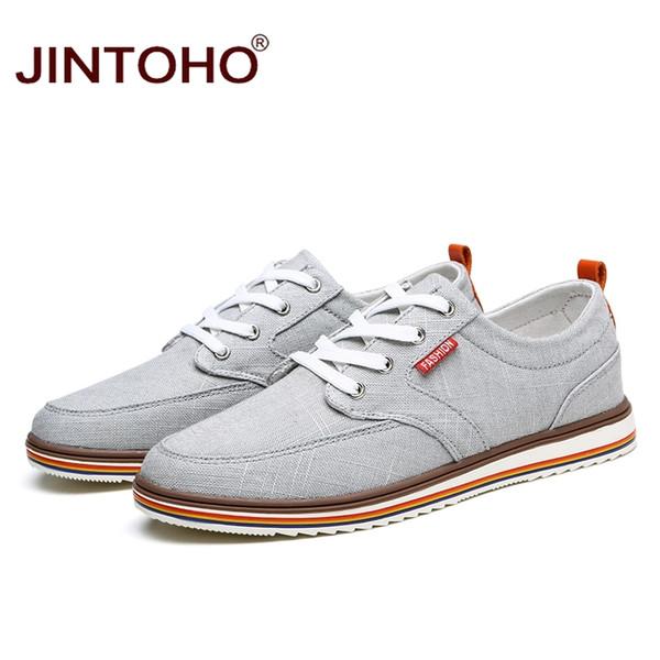 Großhandel 2019 JINTOHO Große Größe Atmungsaktive Herren Schuhe Verkäufe Schnürschuhe Segeltuchschuhe Luxusmarke Männer Schuh Designer China Günstige