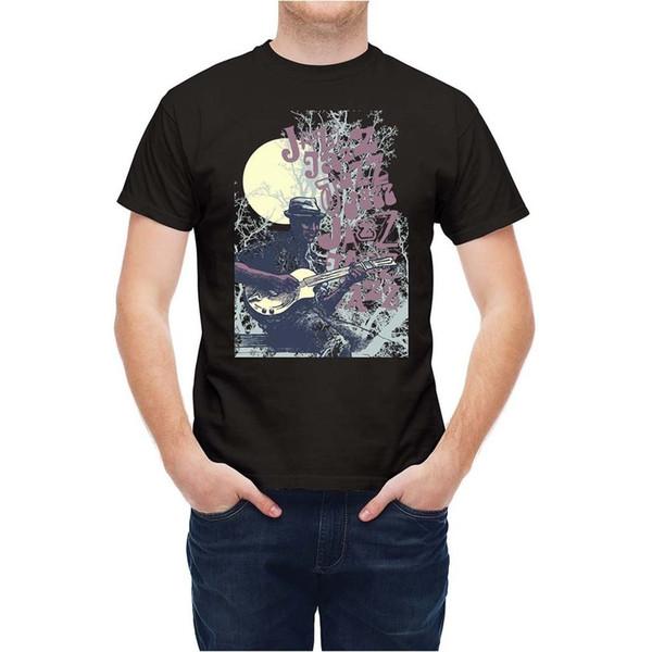 Camiseta romántica Jazz Musician Under Moonlight T25595top envío gratis camiseta
