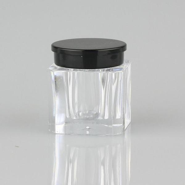 Simpatico vasetto quadrato in polvere per campioni 3.5g mini in polvere per cosmetici Custodia piccola in plastica per contenitori portatili F454