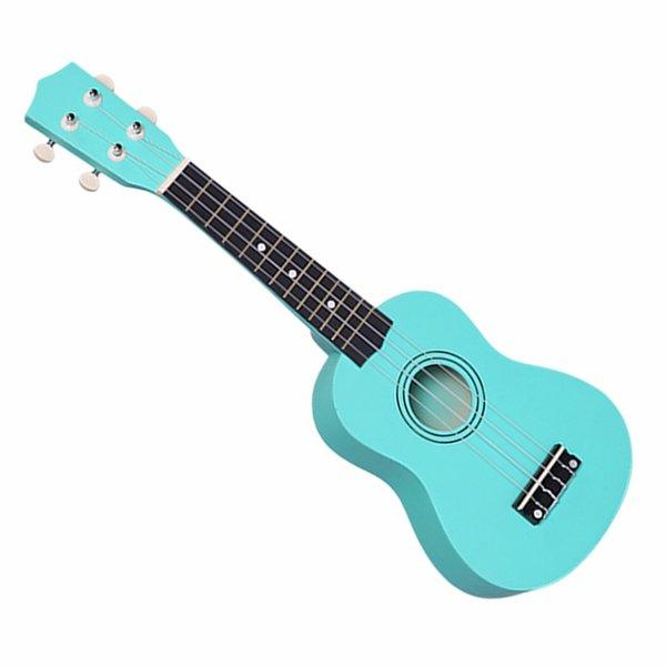 Ukulele soprano acústico pequeño de 21 pulgadas profesional Ukulele basswood colorido de 21 pulgadas para principiantes de guitarra precio bajo nuevo ye