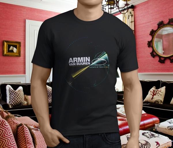 Yeni Dj Armin Van Buuren Imagine Armada Trance erkek Siyah T-shirt Boyut S - 3xl İndirim Sıcak Yeni Tshirt Üst Ücretsiz Kargo T-Shirt