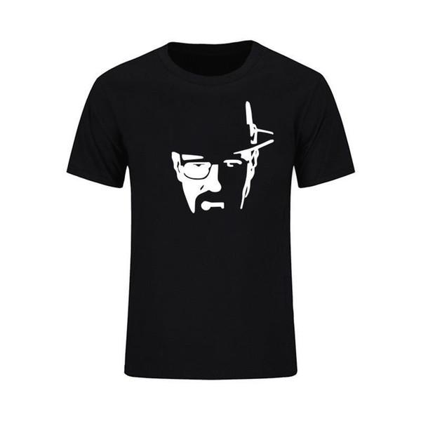 2018 Yeni Yaz Erkekler Şef Walter Beyaz Heisenberg Baskılı Erkekler T-shirt S-XXL Harajuku Ücretsiz kargo