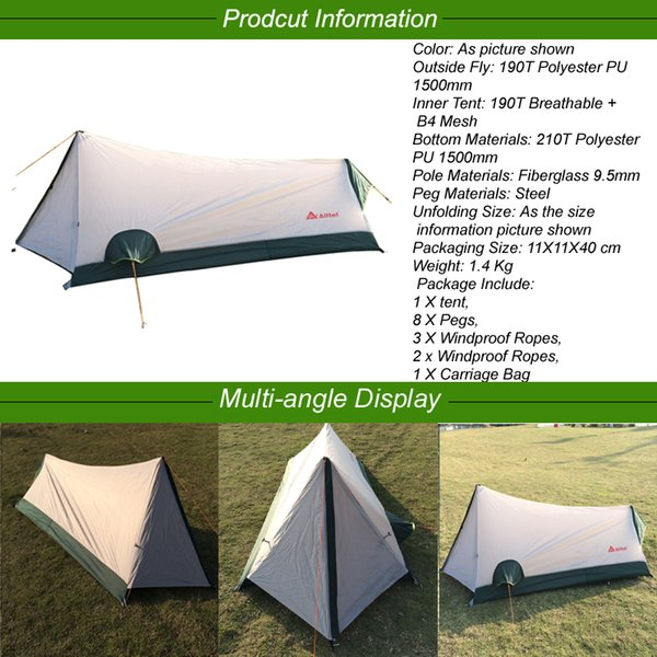 Ultralight Tent Portable 1 Person Single Tents UV Protection Waterproof Tents 4 Seasons Camping Outdoor Tent for Beach