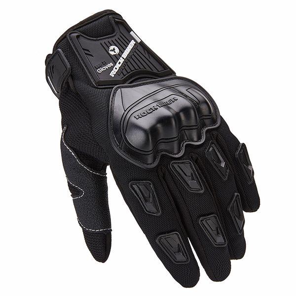 Motorcycle Touch Screen Gloves Summer Black Motocross Full Finger Gloves Moto Breathable Luvas para M-XXL ROCK BIKER Hot Sales