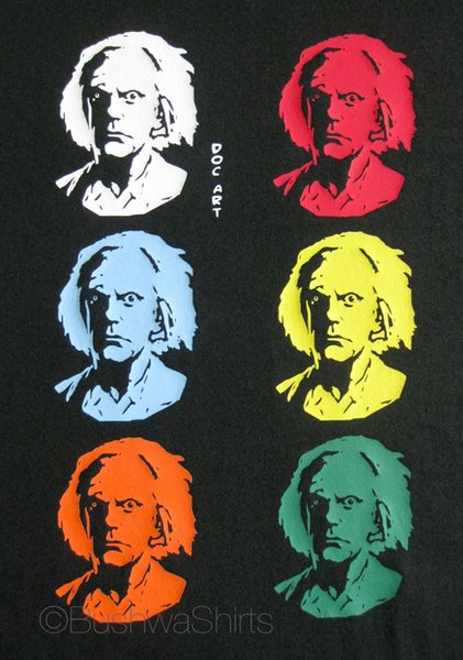 Doc Brown Back To The Future /Pop Art Inspired T Shirt Tee Top Mens Funny Cool Casual pride t shirt men Unisex