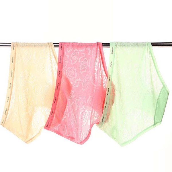 Hot Sale Women Seamless Invisible Underwear Briefs Thong 200pcs Ice Silk Seamless Crotch XXL Plus size Free Shipping