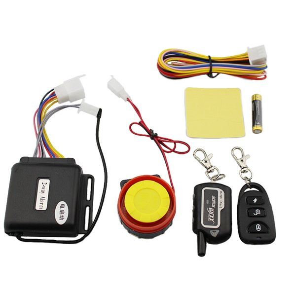 Master Racing Two Way Alarm Motorcycle Scooter Security 2 Way Alarm Remote Control Engine Start Vibration Lock System