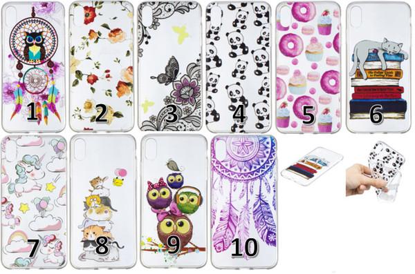 Cartoon IMD Soft TPU Case For Iphone XR XS MAX Galaxy Note9 J4 J6 2018 Huawei P20 Pro Lite Owl Butterfly Flower Panda Cat Cute Unicorn Cover