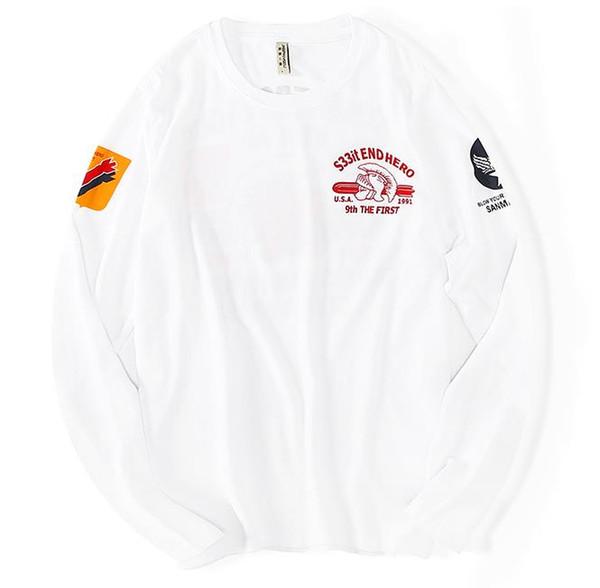 Herbst Kleidung Europa und den Vereinigten Staaten Gezeiten Marke Baumwolle plus Dünger lose große Größe Rundhals Shirt Männer Fett Hip Hop Langarm